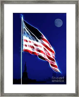 God Bless America Framed Print by Wingsdomain Art and Photography