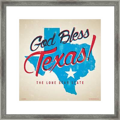 God Bless Texas Framed Print by Jim Zahniser