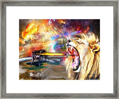 God Fights For You Framed Print by Dolores Develde
