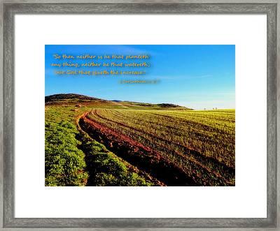 God Gives The Increase Framed Print by Glenn McCarthy