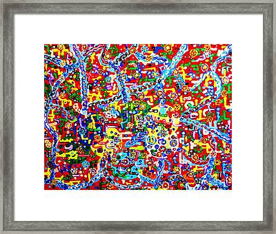 God Hidden Planets Framed Print by Gina Nicolae Johnson