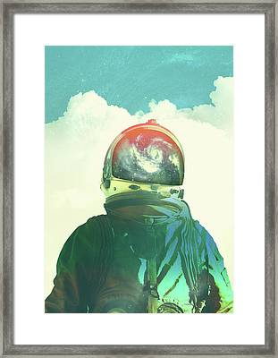 God Is An Astronaut Framed Print by Fran Rodriguez