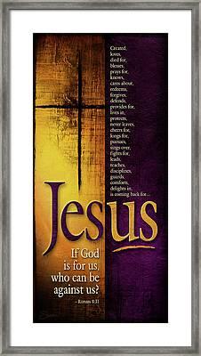 God Is For Us Framed Print by Shevon Johnson