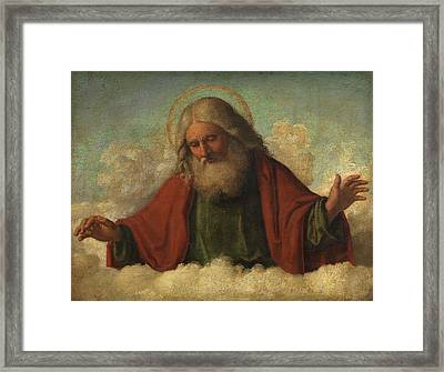 God The Father Framed Print by Cima da Conegliano