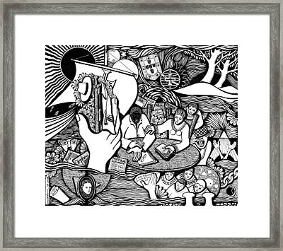 God Wills Man Dreams The Work Is Born Framed Print by Jose Alberto Gomes Pereira