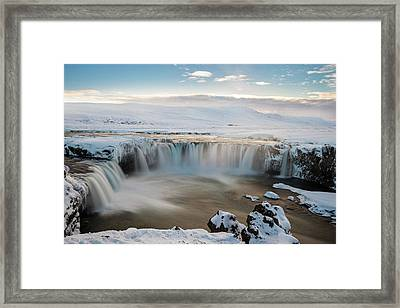 Godafoss Iceland Framed Print by Sanket Sharma