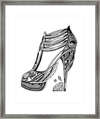 Goddess Isis High Heel Framed Print by Kenal Louis