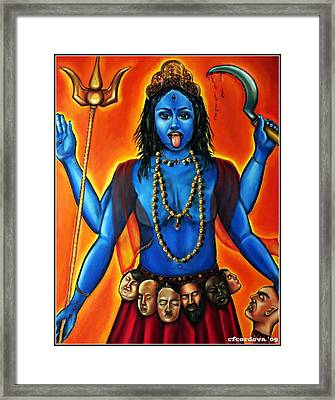 Goddess Kali  Framed Print by Carmen Cordova
