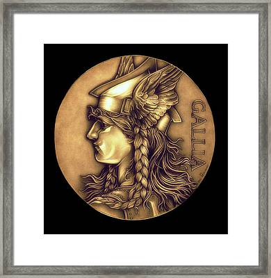 Goddess Of Gaul Framed Print by Fred Larucci