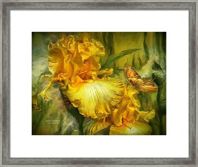 Goddess Of Summer Framed Print by Carol Cavalaris