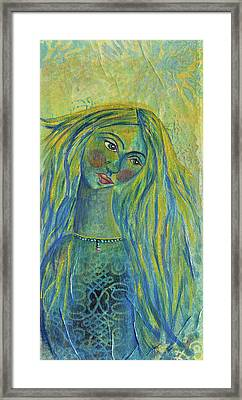 Goddess Of The North Sea Framed Print by Donna Blackhall