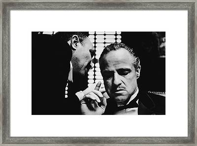 Godfather Brando Framed Print by Daniel Hagerman