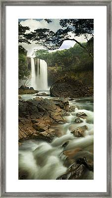 Godfather Falls Framed Print by Sun Gallery Photography Lewis Carlyle