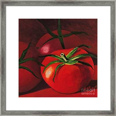 God's Kitchen Series No 3 Tomato Framed Print by Caroline Street