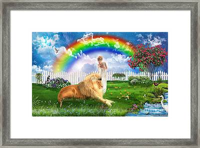 God's Perfect Promise  Framed Print by Dolores Develde