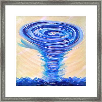 God's Power Overcomes Framed Print by Deborah Brown Maher