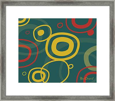Gogo - Retro-modern Abstract Framed Print by Bill ONeil