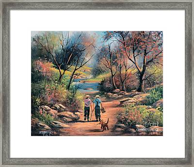 Goin Fishing Framed Print by Sergei Kasaz