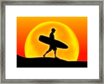 Goin' For A Surf Framed Print by Andreas Thust