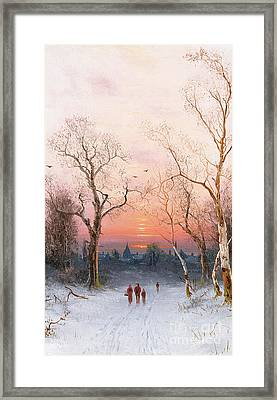 Going Home Framed Print by Nils Hans Christiansen