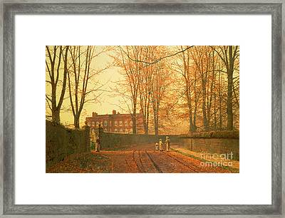 Going To Church Framed Print by John Atkinson Grimshaw