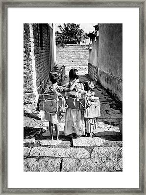 Going To School Framed Print by Tim Gainey