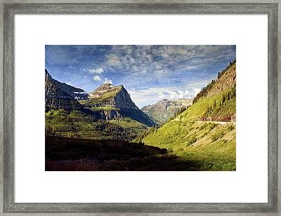 Going To The Sun 2 Framed Print by Marty Koch