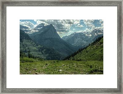 Going To The Sun Road Framed Print by Constance Puttkemery