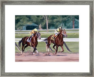 Going To The Whip Framed Print by Linda Tenukas