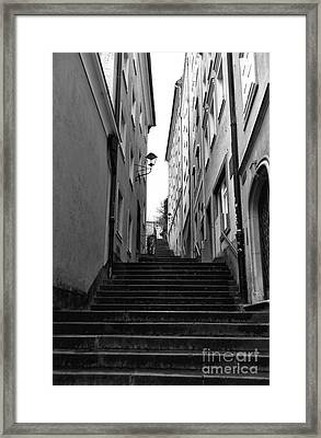 Going Up In Salzburg Framed Print by John Rizzuto