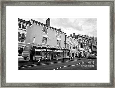 gold and jewellery shops warstone lane jewellery quarter Birmingham UK Framed Print by Joe Fox