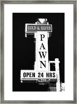 Gold And Silver Pawn Sign Framed Print by Anthony Sacco