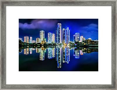 Gold Coast Reflections Framed Print by Az Jackson
