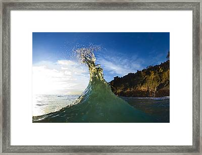 Gold Crown  -  Part 1 Of 3 Framed Print by Sean Davey