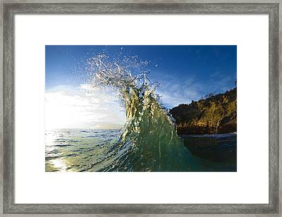 Gold Crown  -  Part 2 Of 3 Framed Print by Sean Davey