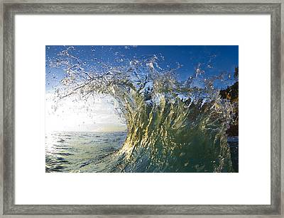 Gold Crown  -  Part 3 Of 3 Framed Print by Sean Davey