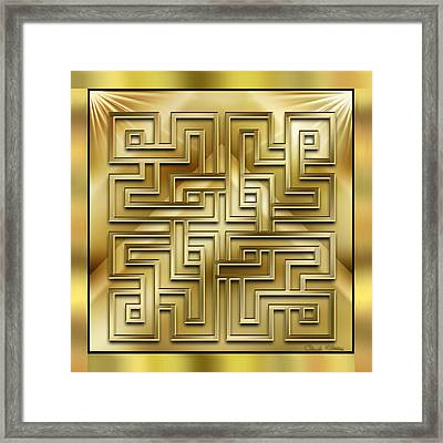 Gold Design 1 - Chuck Staley Framed Print by Chuck Staley