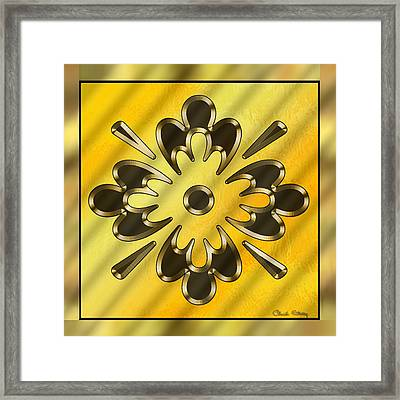 Gold Design 10 - Chuck Staley Framed Print by Chuck Staley