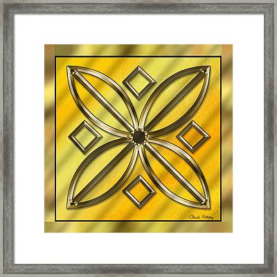 Gold Design 11 - Chuck Staley Framed Print by Chuck Staley