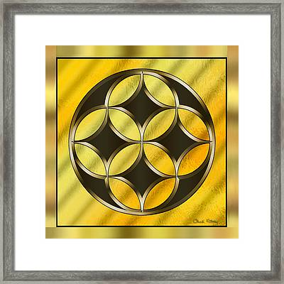 Gold Design 12 - Chuck Staley Framed Print by Chuck Staley