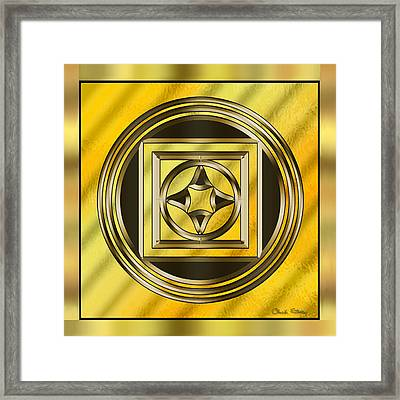Gold Design 13 - Chuck Staley Framed Print by Chuck Staley
