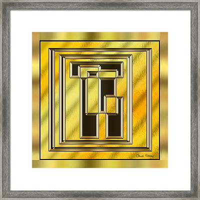 Gold Design 15 - Chuck Staley Framed Print by Chuck Staley