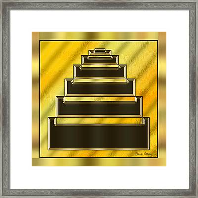 Gold Design 16 - Chuck Staley Framed Print by Chuck Staley