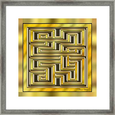 Gold Design 17 - Chuck Staley Framed Print by Chuck Staley
