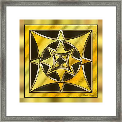 Gold Design 18 - Chuck Staley Framed Print by Chuck Staley