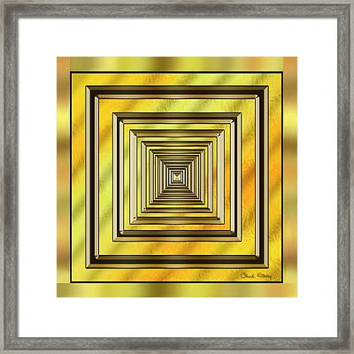 Gold Design 19 - Chuck Staley Framed Print by Chuck Staley
