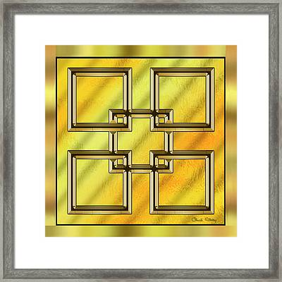 Gold Design 2 - Chuck Staley Framed Print by Chuck Staley