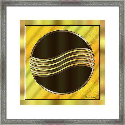 Gold Design 20 - Chuck Staley Framed Print by Chuck Staley
