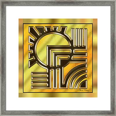 Gold Design 21 - Chuck Staley Framed Print by Chuck Staley