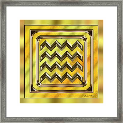 Gold Design 22 - Chuck Staley Framed Print by Chuck Staley